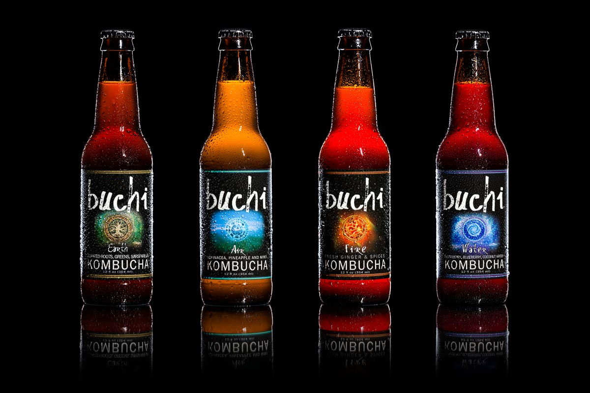 Buchi Kombucha - Product Photography in Asheville by Photographer Taylor Clark Johnson