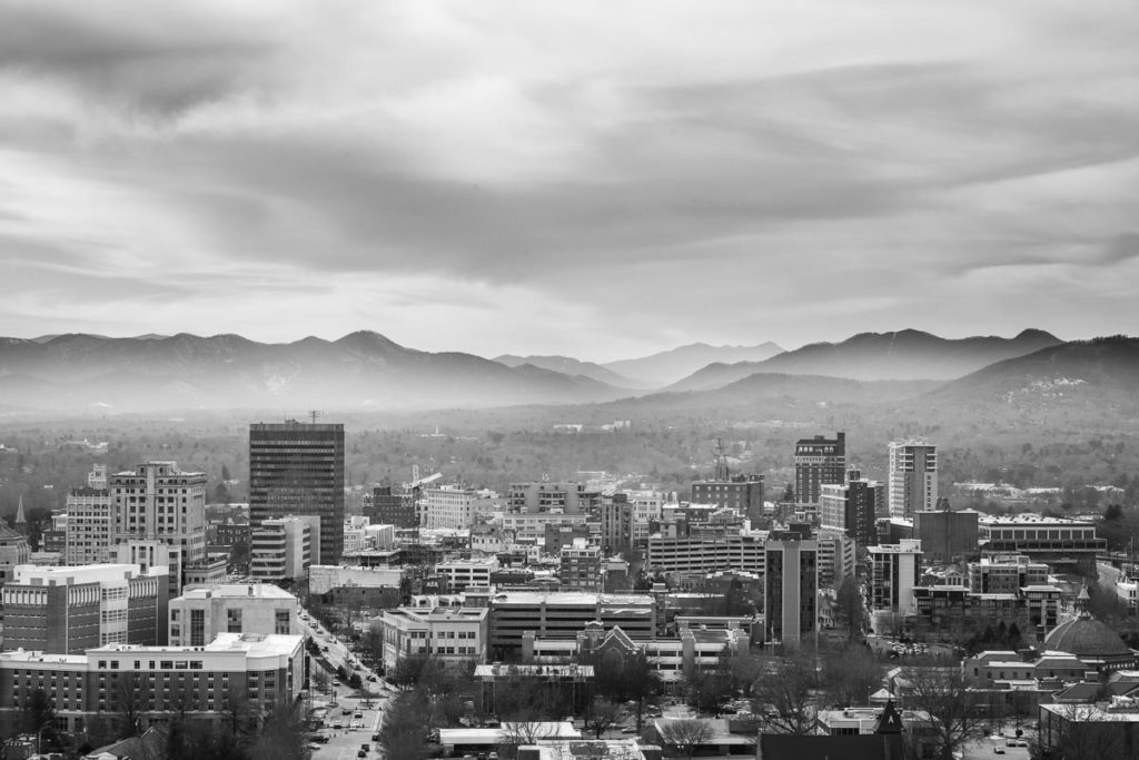 Downtown Asheville Skyline - Asheville Commercial Photographer Taylor Clark Johnson