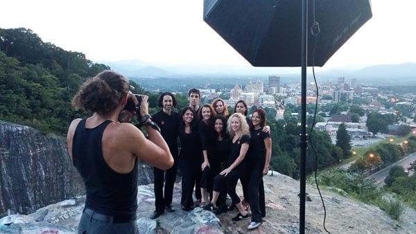business group portrait - behind the scenes - asheville nc
